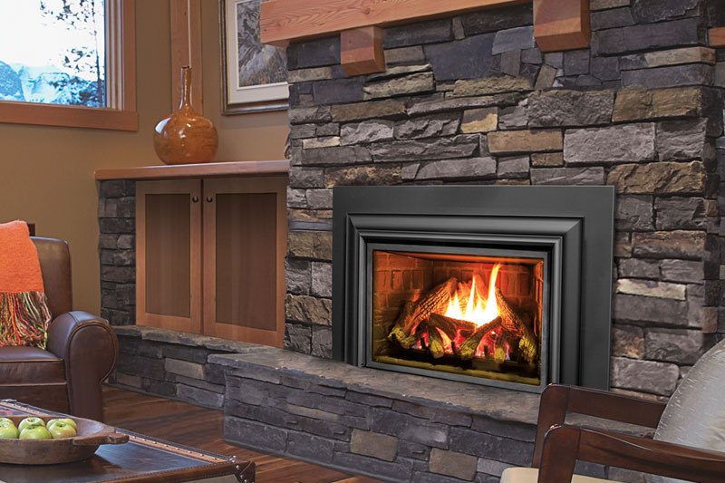Enviro e33 gas fireplace insert jackman 39 s home heating for Modern wood burning insert