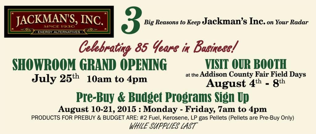 Jackman's 85th Anniversary