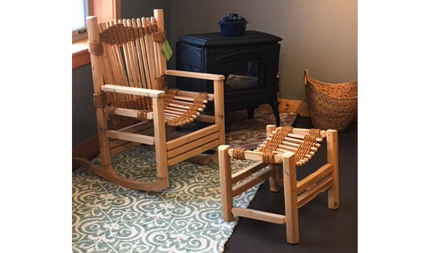 Vermont Cedar Chair Co. Rocking Chair and Foot Stool