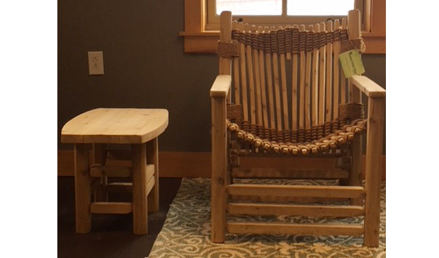 Vermont Cedar Chair Co. Chair and Side Table