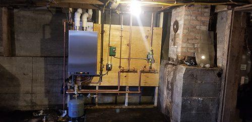 heater installation 6