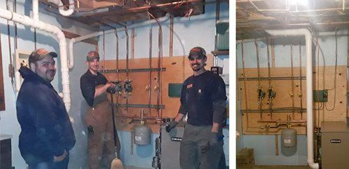 heater installation 9