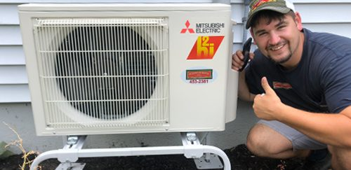 mitsubishi heat pump installation